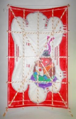 2016三尺干支凧申紫裏